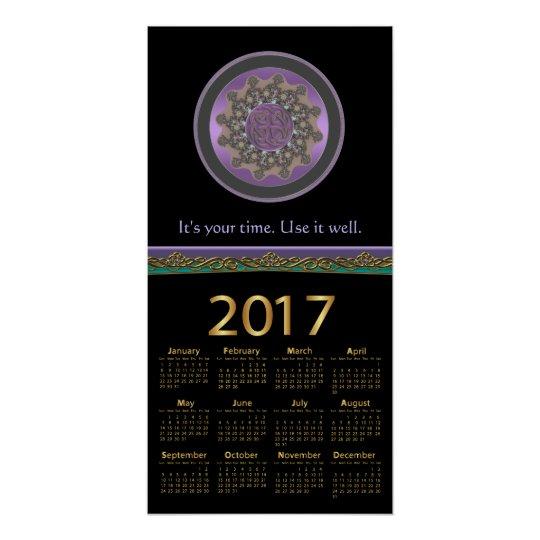 Celtic Fractal Mandala Your Time 2017 Calendar Poster