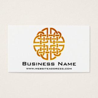 Celtic Golden Symbol 7 Elegant Business Cards
