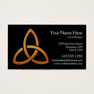 Celtic Golden Trinity Symbol Business Card