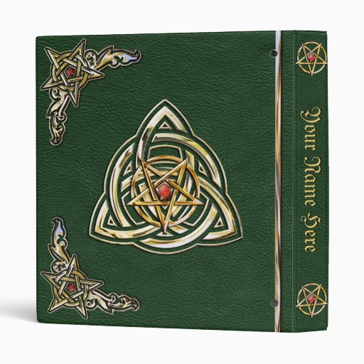 Celtic Green Book of Shadows 3 Ring Binder