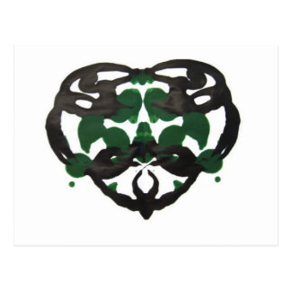 Celtic Green Inkblot Postcard