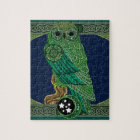 Celtic Green Owl Jigsaw Puzzle