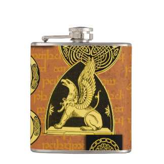 Celtic Gryphon Flask