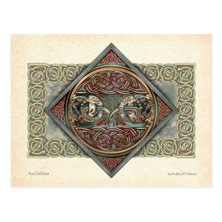 Celtic Gryphons Design Postcard
