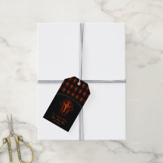 Celtic Hamsa Hand (Orange/Red) Pack Of Gift Tags