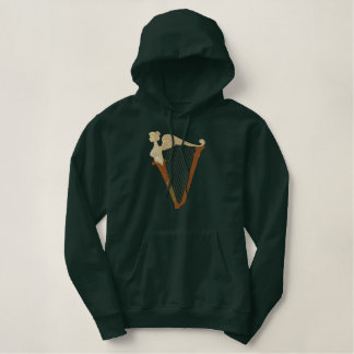 Celtic Harp Embroidered Hoodie