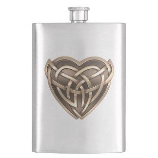 Celtic Heart Classic Flask