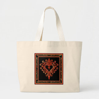 Celtic Heart Cross Tote Bag