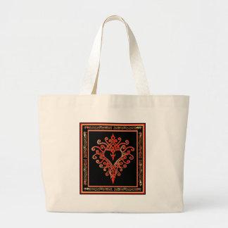 Celtic Heart Cross Jumbo Tote Bag