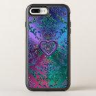 Celtic Heart Knot on Colourful Metallic Damask OtterBox Symmetry iPhone 8 Plus/7 Plus Case