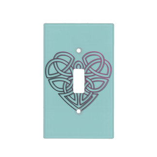 Celtic heart lightswitch cover