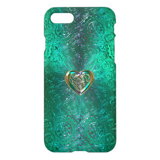 Celtic Heart Mandala In Green Gold iPhone 8/7 Case