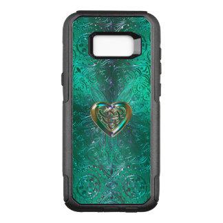 Celtic Heart Mandala In Green Gold OtterBox Commuter Samsung Galaxy S8+ Case