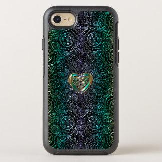 Celtic Heart Mandala In Green Gold OtterBox Symmetry iPhone 8/7 Case