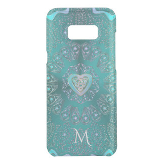 Celtic Heart Mandala in Turquoise Blue Green Uncommon Samsung Galaxy S8 Plus Case
