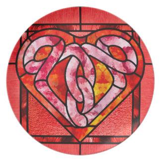 Celtic Heart Nouveau Party Plates