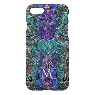 Celtic Heart Pastel Mandala Monogram iPhone 8/7 Case