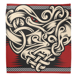 Celtic Heart red black white Bandanas