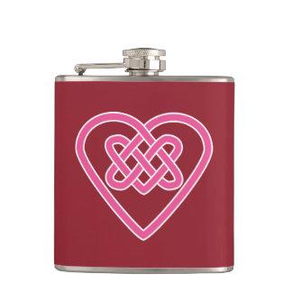 Celtic Heart Vinyl Wrapped Flask