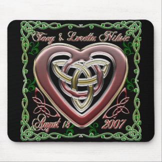Celtic Heart Wedding/Anniversary Design Mousepad