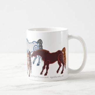 celtic horse herd coffee mug