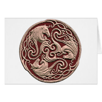 Celtic Horse Knot Card