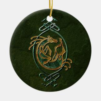 Celtic Horse - stone Ceramic Ornament