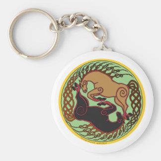 celtic horse yin yang keychain