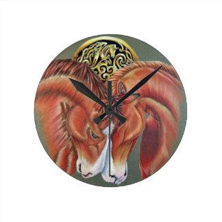 Celtic horse- zodiac symbol wall clocks