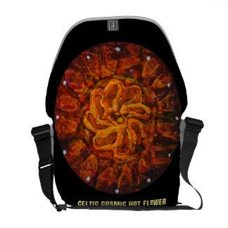 Celtic hot flower - Abstract messenger Bag