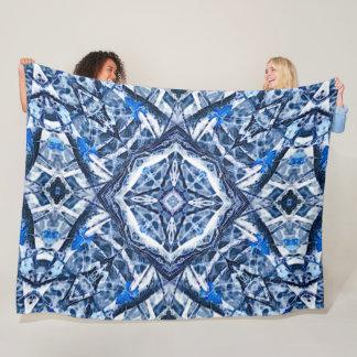 Celtic Ice Magical Runes Mandala Fleece Blanket