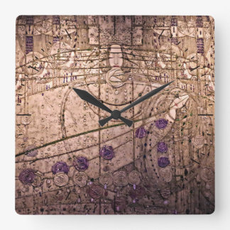 Celtic Inspired Art Nouveau Timepiece Square Wall Clock