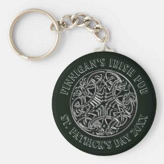 Celtic Interlaced Design St. Patrick's Day Keychain