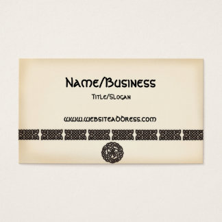 Celtic Irish Bars & Symbols Design Business Cards