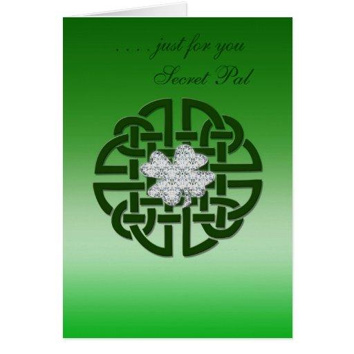 Celtic Irish Card, Secret Pal  ... Card