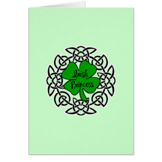 Celtic Irish Princess Card
