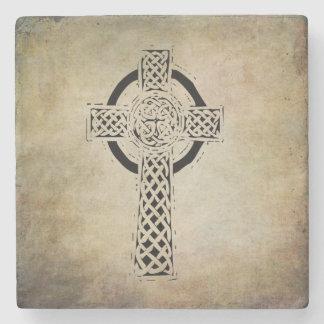 celtic irish sacred symbols stone coaster