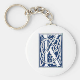 Celtic K Monogram Keychain