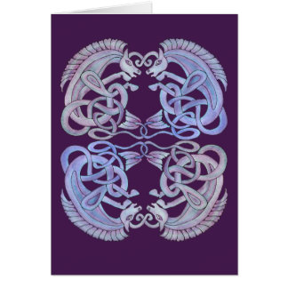 Celtic Kelpies Greetings Card