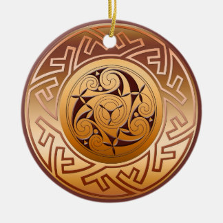 Celtic Key and Spiral Christmas Ornament