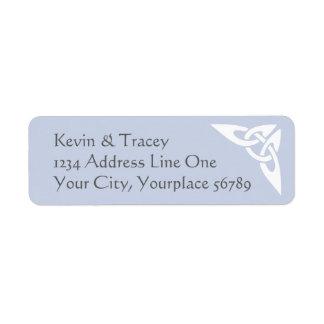 Celtic Knot Address Label - light blue