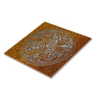 Celtic Knot Amber Birds & Silver-Trivet Tile