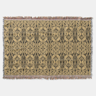 Celtic Knot Animals Lindisfarne Pattern Throw Blanket