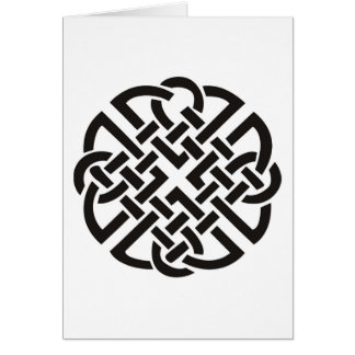 Celtic Knot Black and White Card