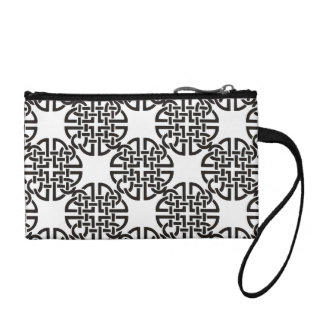 Celtic Knot Black and White Coin Wallets