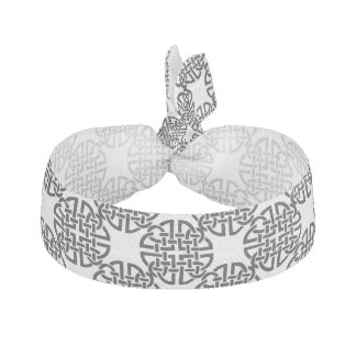 Celtic Knot Black and White Hair Tie