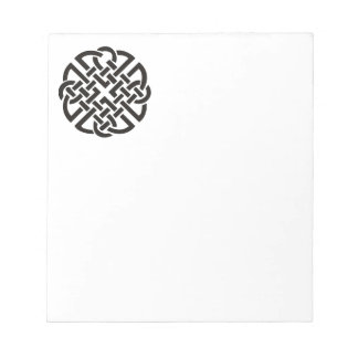 Celtic Knot Black and White Notepad