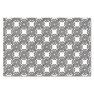 Celtic Knot Black and White Tissue Paper