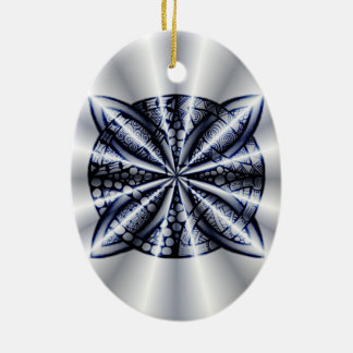 Celtic Knot Blue Zentangle Inspired Design Ornaments