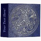 Celtic Knot Circle of Blue Birds & Silver-Binder 3 Ring Binder
